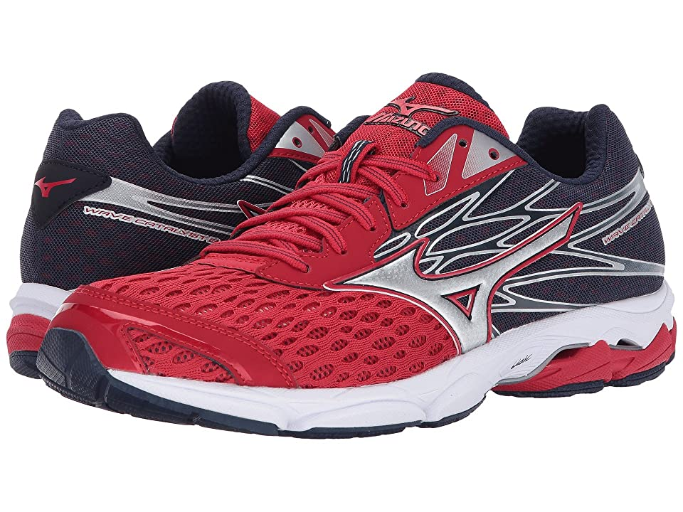 Mizuno Wave Catalyst 2 (True Red/Silver/Peacoat) Boys Shoes