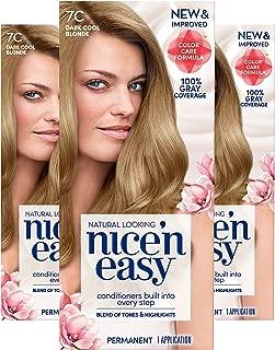 Clairol Nice'n Easy Permanent Hair Color, 7C Dark Cool Blonde, Pack of 3