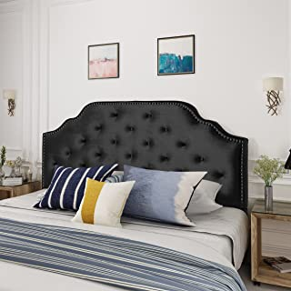 headboard full black