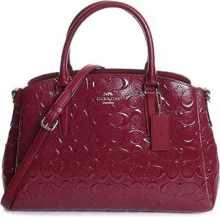 Coach Women's Signature Embossed Patent Leather Sage Satchel