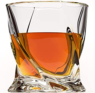 Crystal Whiskey Glass Set of 4 - Premium Lead Free Crystal Glasses - Tasting Tumblers for Drinking Large 10 oz - Elegant Whisky Gift Box Set for Scotch or Bourbon
