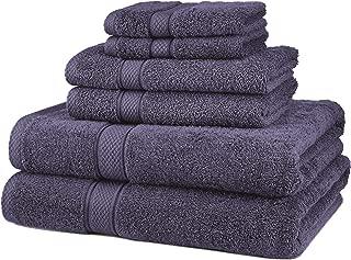 Pinzon 6 Piece Blended Egyptian Cotton Bath Towel Set - Plum