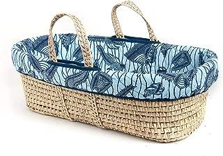 Tadpoles Moses Basket and Bedding Set, Blue Cultural