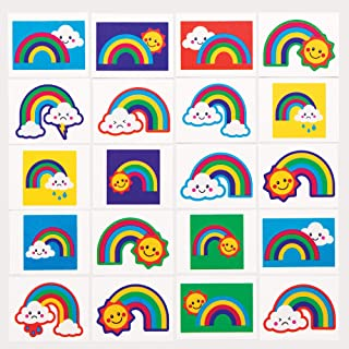 Baker Ross regnbåge tatueringar, för barn festväskor och liten leksak för barn (6 stycken)