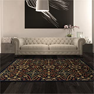 Superior Fancy Medallion Area Rug, Bold Geometric Mandala Pattern, 8' x 10', Midnight Blue
