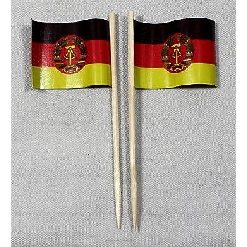 Buddel-Bini Party-Picker Flagge Feuerwehr Auto Papierf/ähnchen in Spitzenqualit/ät 50 St/ück Beutel
