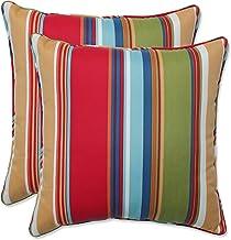 Pillow Perfect Outdoor/Indoor Westport Garden 16.5 Inch Throw Pillow, 16.5 X 16.5 X 5, Red