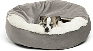Best Friends by Sheri Cozy Cuddler, – Luxury Dog and Cat Bed with Blanket for Warmth and Security - Offers Head, Neck and Joint Support - Machine Washable, Water-Resistant Bottom - For Small Pets Up to 25lbs, Medium Pets Up to 35lbs