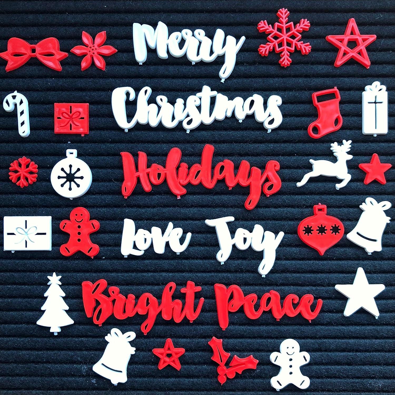 Tulsa Mall unisex New Christmas and Holiday Words Symbols Felt Bo for Letter