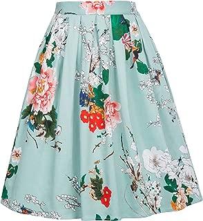 german print skirts