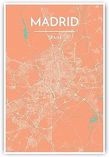 madrid map print