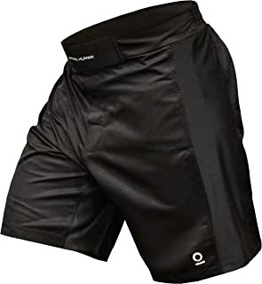 Optimal Human BJJ Jiu Jitsu Velcro Shorts - No Gi Fight Short - for Grappling, MMA, Wrestling, Muay Thai | Helix I