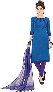 Minu salwar Cotton Printed Suit sets Blue(Minuhandloom_1010)