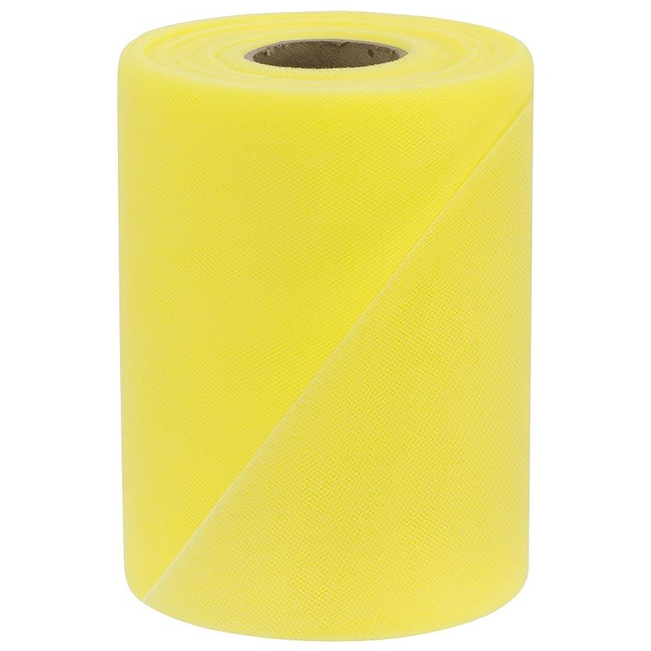 Falk Fabrics Tulle Spool, 6-Inch by 100-Yard, Lemon