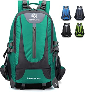 SURCHI 40L Hiking Backpack Lightweight Outdoor Traveling For Camping Fishing Men Women