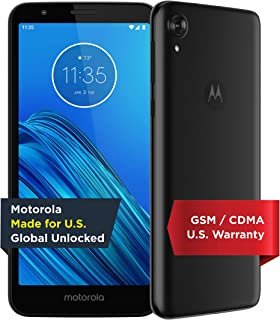 Moto E6 - Unlocked Smartphone - Global Version - 16GB - Starry Black (US Warranty) - Verizon, AT&T, T-Mobile, Sprint, Boost, Cricket, Metro