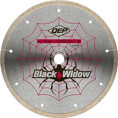 QEP 6-7008BW 7-Inch Black Widow Micro-Segmented Rim Diamond Blade, 5/8-Inch Arbor, Wet Cutting, 8730 Maximum RPM