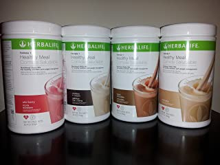 Herbalife Formula 1 Nutritional Shakes - Multiple Combinations (French Vanilla-Cookies and Cream-Wild Berry-Cafe Latte)