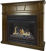 Pleasant Hearth 46 Full Size 32,000 Liquid Propane Vent Free Fireplace System 32K BTU, Rich Heritage