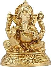 ShalinIndia Handmade Indian Brass Religious Items Indian Decor Ganesha Hindu Statue 5 inch