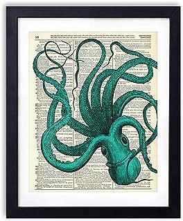 blue octopus printing