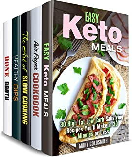 Easy Weight Loss Box Set (5 in 1) : Stay Fit with Ketogenic, Air Fryer, Crockpot Recipes, Healthy Dips and Broths (Healthy Favorites)