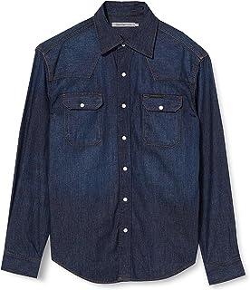 Calvin Klein Jeans Men's Archive Western-Rinse Indigo Casual Shirt