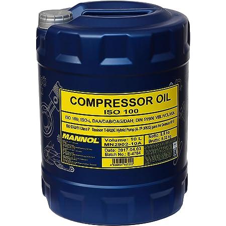 1 X 10 Mannol Compressor Oil Iso 100 Vdl Lüftverdichteröl Für Hub Drehkolbenverdichtern Kolben Und Rotationsverdichtern Auto