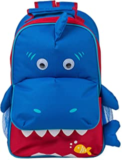 Ocean Blue Shark Dimensional Animal Shape Water Resistant Preschool Backpack