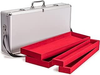 Yellow Mountain Imports Aluminum Case with Shoulder Strap for Mahjong (Mah Jong, Mahjongg, Mah-Jongg, Mah Jongg, Majiang) Set, Presidential
