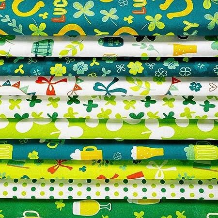 Peanuts St Patrick/'s Day 6X6 Novelty Fabric Fussy Cut