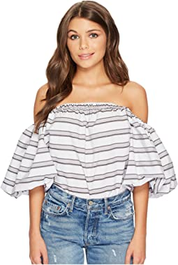 1.STATE - Strapless Voluminous Sleeve Top