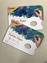 2 Pack Disposable Palette Paper Pad, Ohuhu 21X30 CM,68 LB/105 GSM Heavy Duty Palette Paper, Glue-Bound, Bleed-Proof Double...