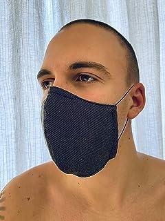 Mascherina Unisex Lavabile 100% cotone ufficio grigio nero