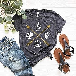 Disney Inspired Four Parks, Gold Arrows, Magic Kingdom Shirt, Animal Kingdom Shirt