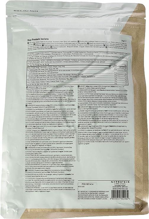 Myprotein Soy Protein Isolate (1000g) 1 Unidad 1000 g: Amazon ...