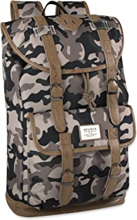 Benrus Scout Backpack With Flap Drawstring Closure & Vinyl Trimming (Camouflage)