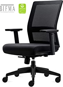 CHAIRLIN Big and Tall 350LB Home Office Task Chair, Ergonomic Executive Desk Rolling Swivel Chair Adjustable Armrests Mesh High Back Computer Chair with Lumbar Support for Women, Men BIFMA Certified