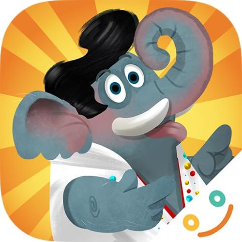 Jogo Circus Animals - Den Teller leer essen macht Spaß!
