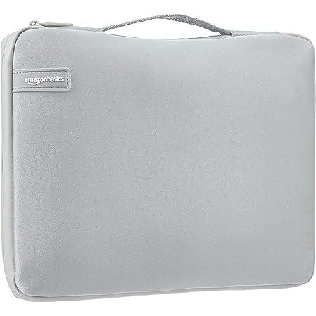 Amazon Basics - Funda para ordenador portátil profesional (con asa retráctil) de 33,78 cm, gris