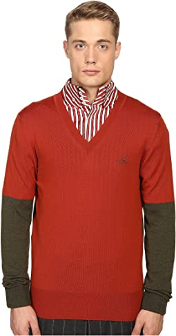 Block Classic V-Neck Sweater