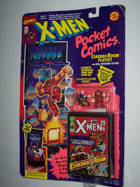 Garantía 100% de ajuste X-Men Pocket Comics Cerebro Cerebro Cerebro Room Jugarset with Wall Smashing Acción by Marvel Comics  el precio más bajo
