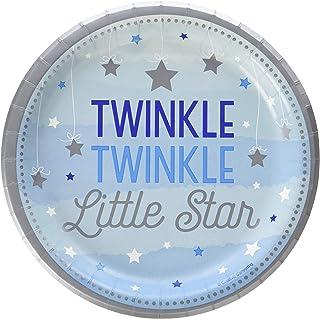 Creative Converting Twinkle Little Star Dessert Plates, 7-Inch Size, Multicolour