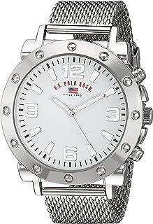 U.S. Polo Assn. Men's Analog-Quartz Watch with Alloy Strap, Silver, 22 (Model: US8815)