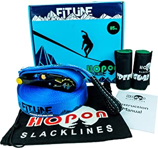 Extra Long 85ft Slackline Kit for Beginners & Adults - Longline - Includes 2x Tree Wraps, Safety-Lock Ratchets, Carrying Bag, Instruction Manual & Video Setup Link - Thick Dynamic Webbing