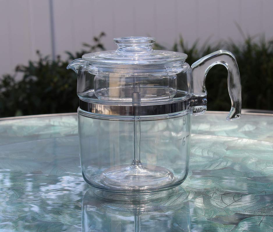 Vintage Pyrex 7759 9 Cup Flameware Glass Coffee Maker Percolator