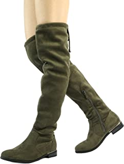 94595b82ad1 DREAM PAIRS Women s Suede Over The Knee Thigh High Winter Boots