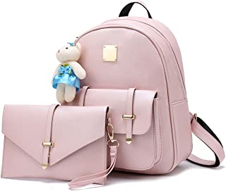 Cute Small Backpack Purse Set with Wallet Bag for Women and Teen Girls