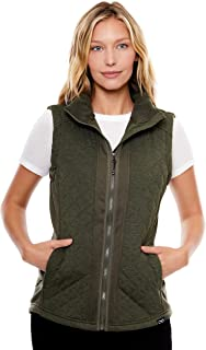 Women's Water-Resistant Cache Diamond Quilted Knit Vest