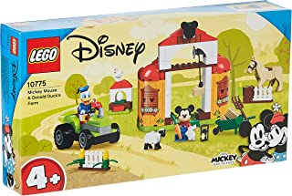 LEGO 10775 Disney Mickey Mouse and Friends Donald Duck's Farm Set with Tractor and Animal Figures, Toy for Kids 4 + Years ...